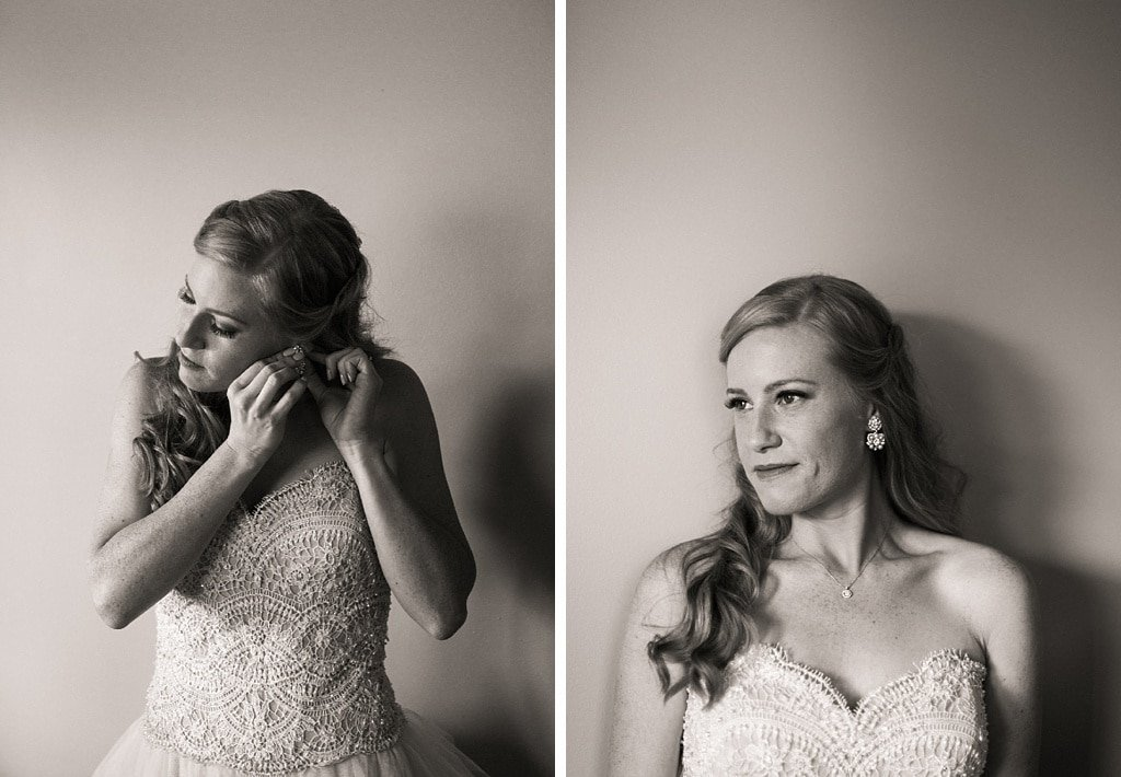 Bride Getting Ready at Telluride The Peaks Resort and Spa Wedding Dress