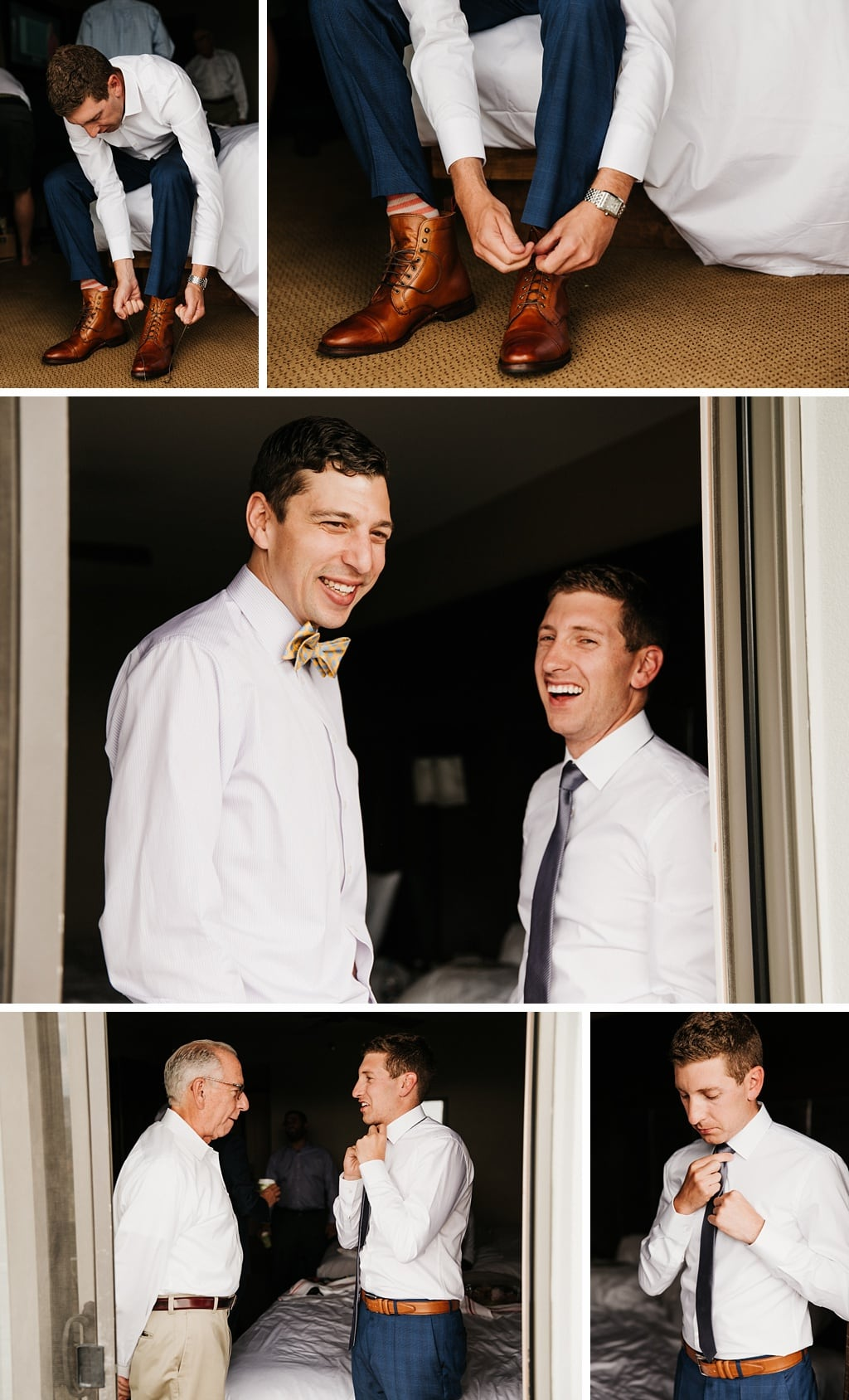 Telluride The Peaks Resort and Spa Groom's Details Shoes Tie Watch Boutonniere Getting Ready