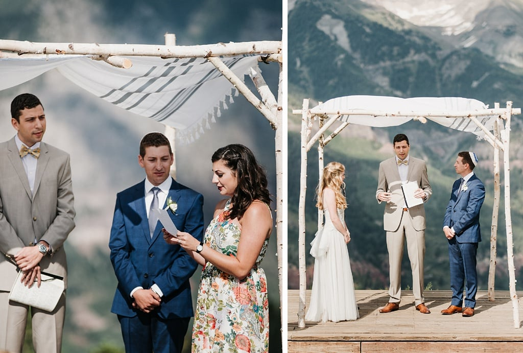 San Sophia Overlook Telluride Mountain Wedding Photography Jewish Traditional Wedding Chuppah