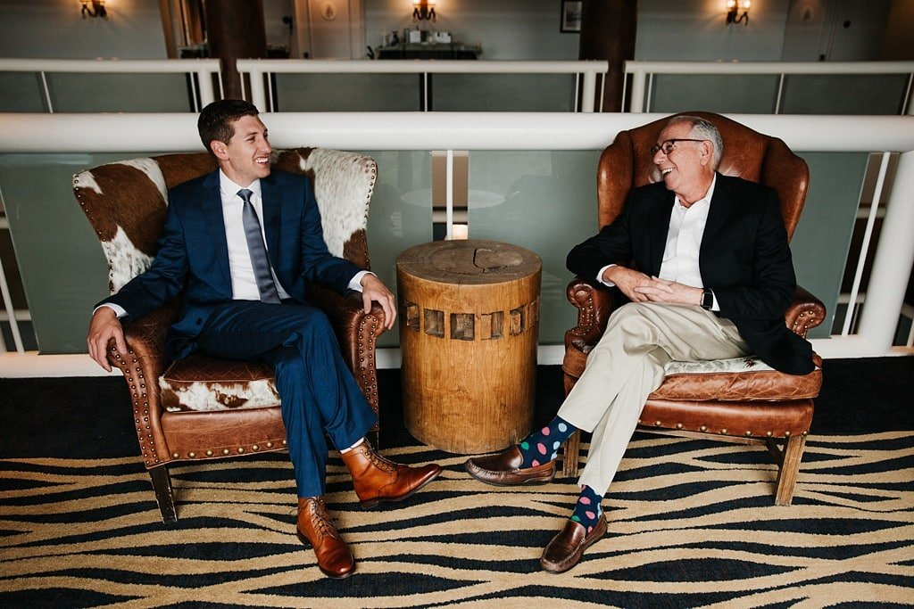 Groom with Father at Telluride The Peaks Resort and Spa Mountain Wedding