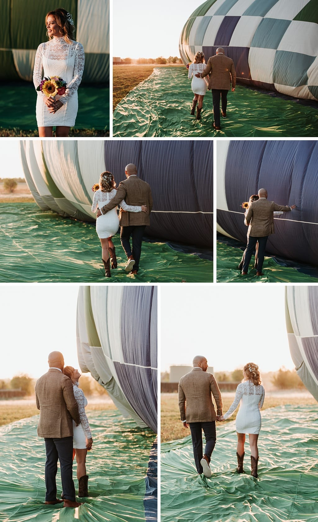 Colorado hot air balloon elopement wedding photography
