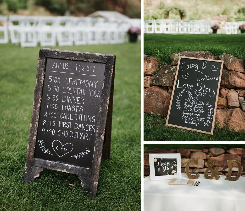 Wedding Ceremony Signs and Guestbook Table
