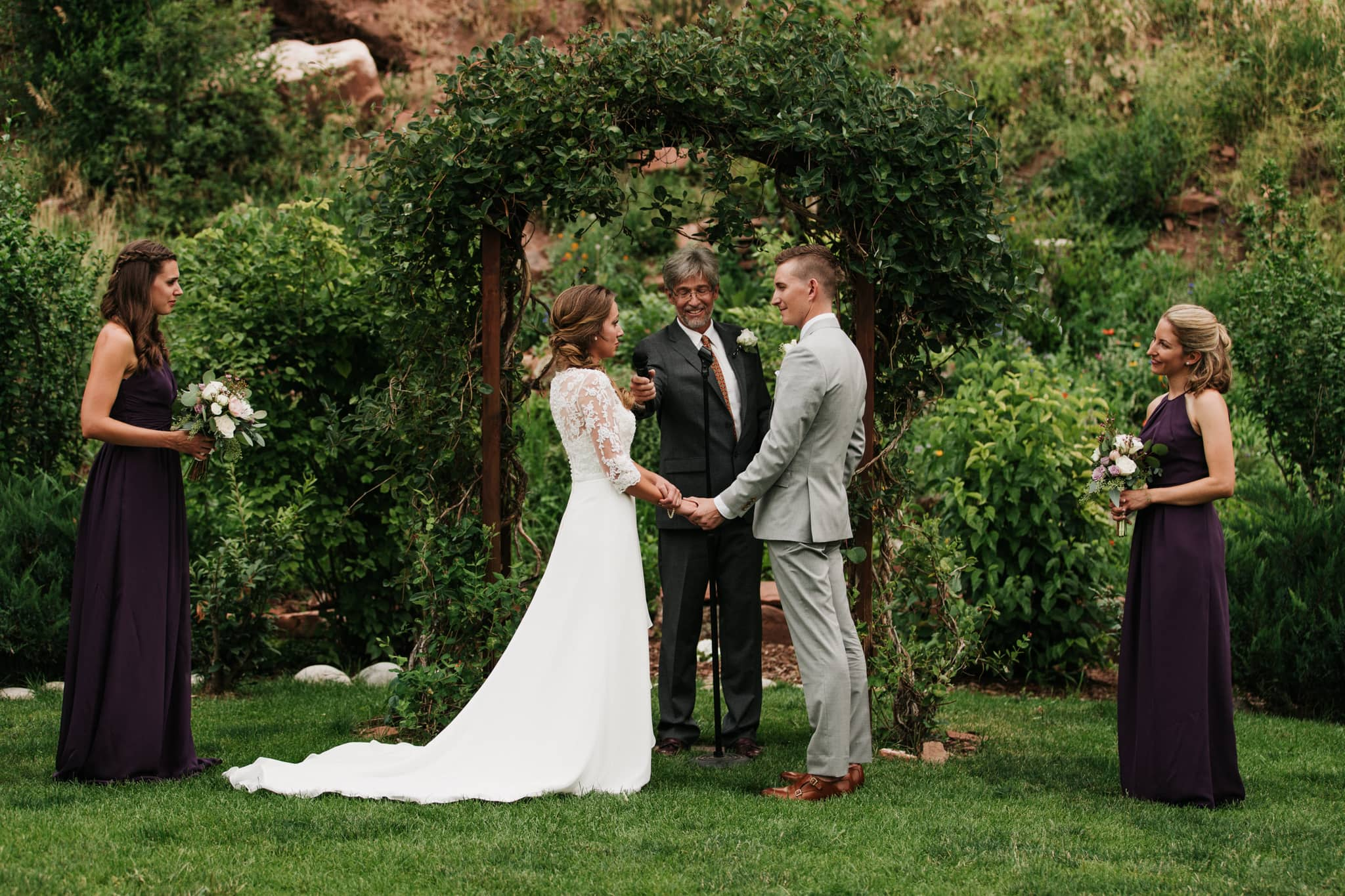 Stone Mountain Lodge Lyons Colorado Wedding Outdoor Ceremony