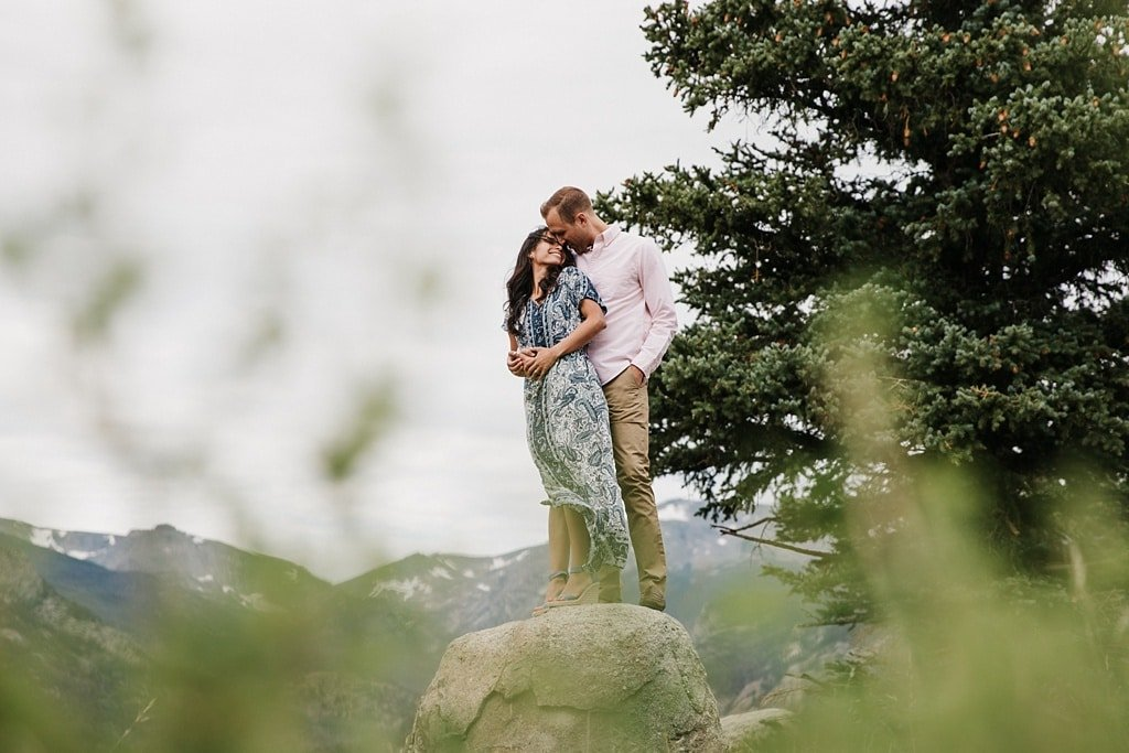 Moraine Park Rocky Mountain National Park Engagement Photos