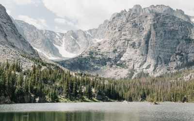 Hike + Swim at Sky Pond in Rocky Mountain National Park