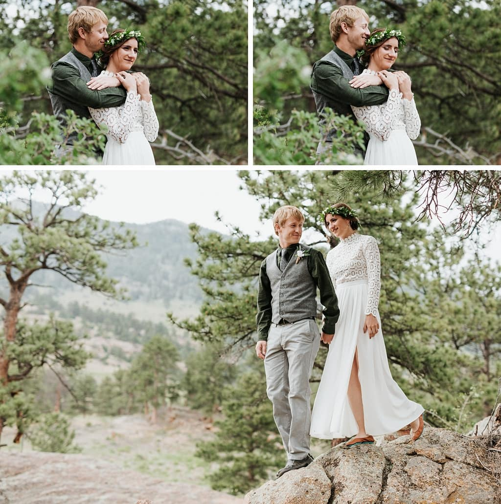 Rocky Mountain National Park Intimate Outdoor Wedding Portraits