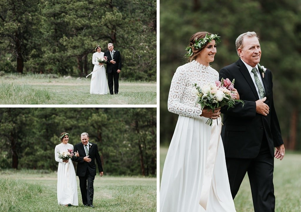 Intimate Outdoor Wedding at O'Connor Pavilion in Estes Park