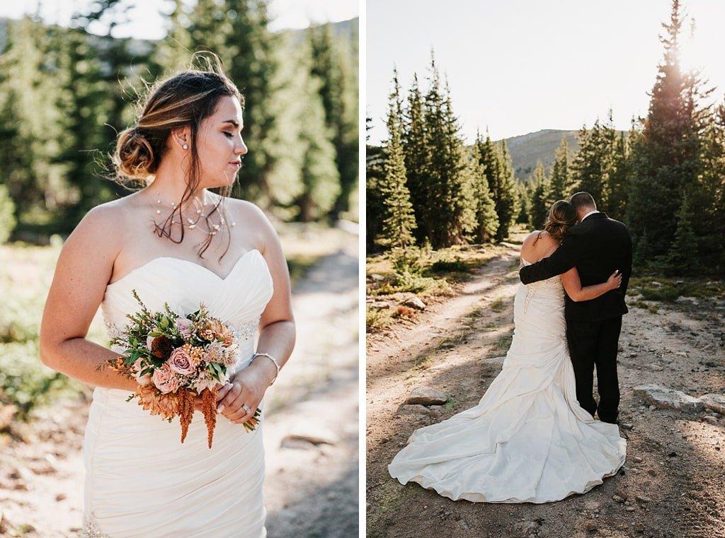 Lunch Rock Winter Park Resort Wedding Colorado Bride bouquet by Elle Design Florals