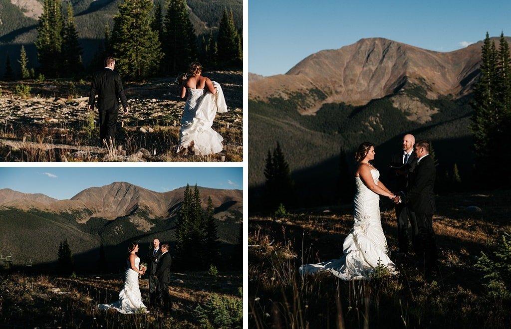 Lunch Rock Winter Park Resort Wedding Colorado Outdoor Mountain Elopement Ceremony