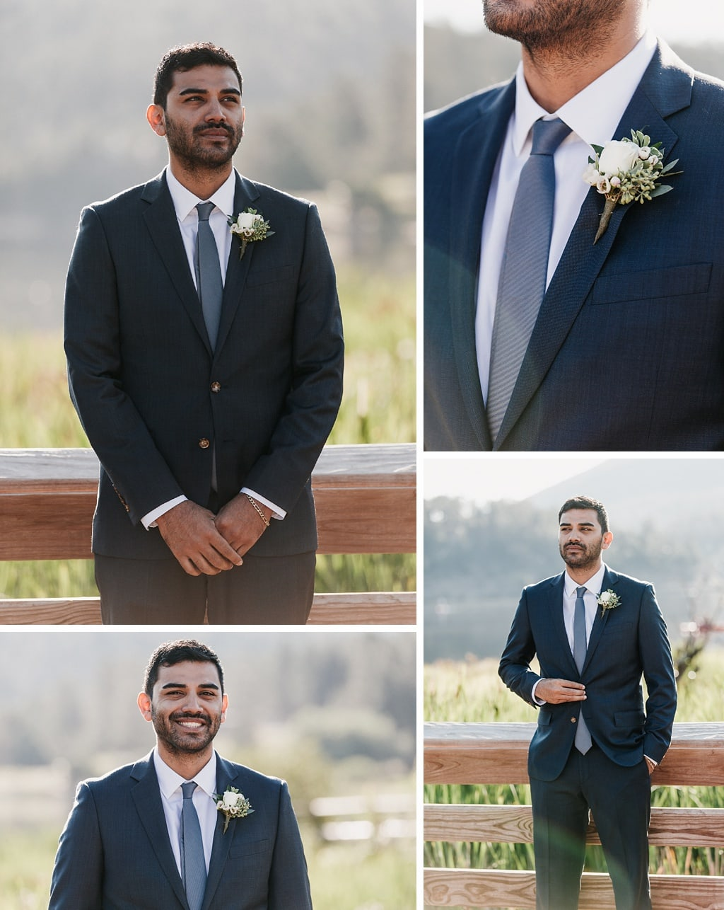 Evergreen Lake House Brunch Wedding Colorado Photography Groom Portraits boutonniere