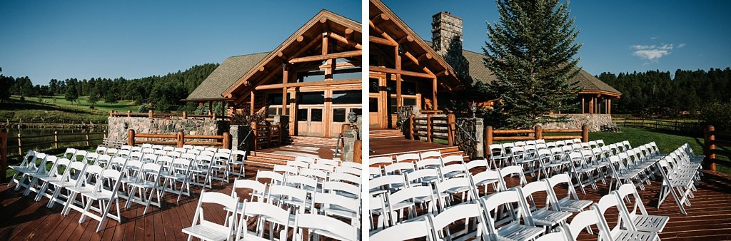 Evergreen Lake House Brunch Wedding Colorado Outdoor ceremony site