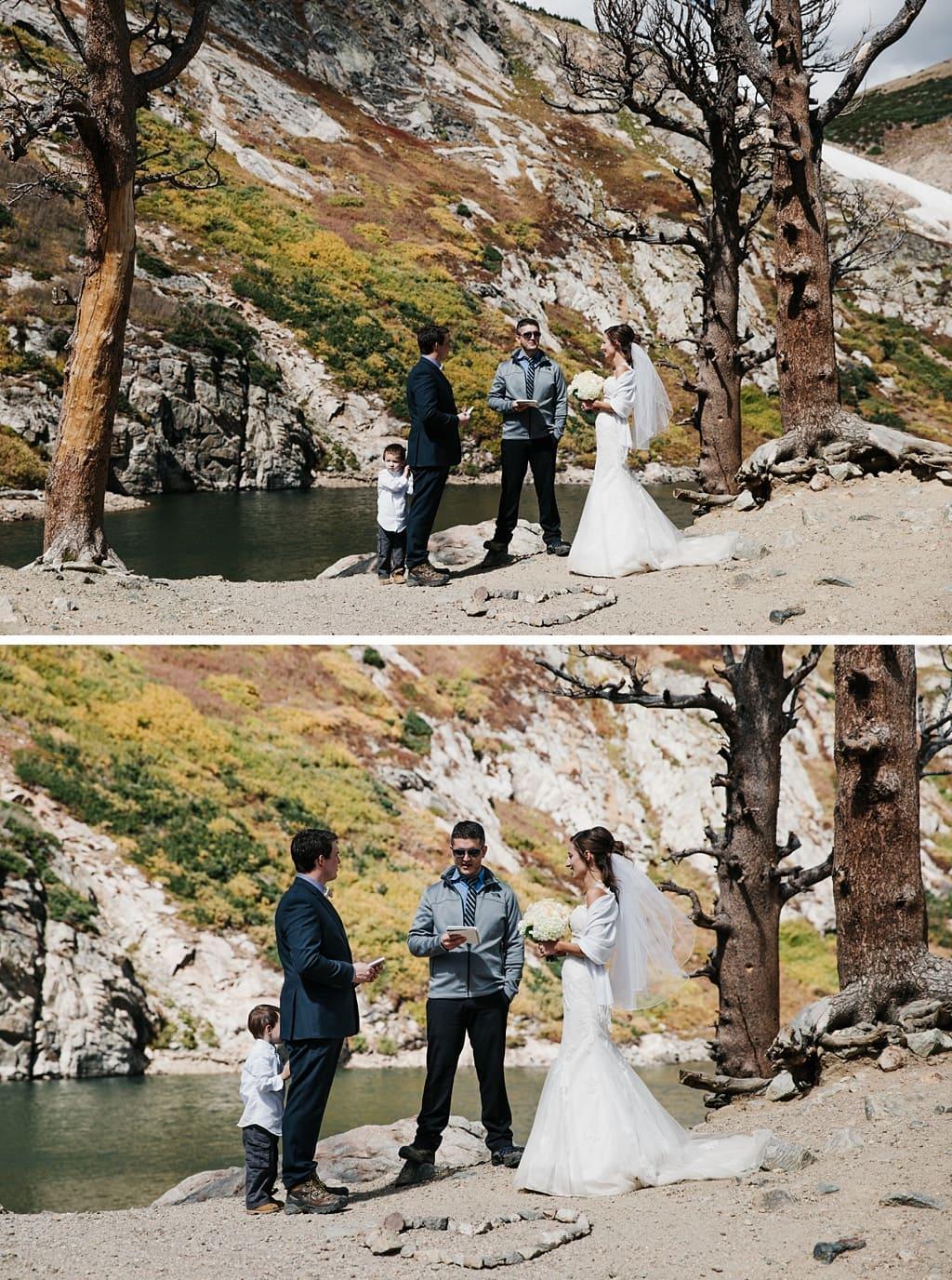 St. Mary's Glacier Elopement hiking wedding in Colorado