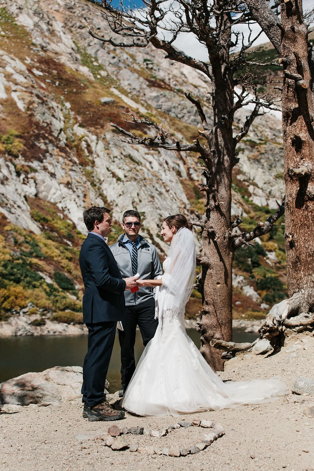 St. Mary's Glacier elopement hiking wedding photographer Colorado