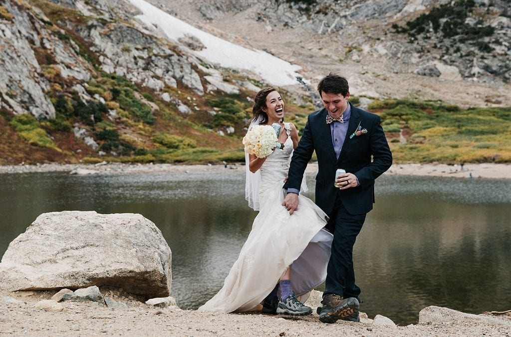 St. Mary's Glacier Elopement Hiking Wedding