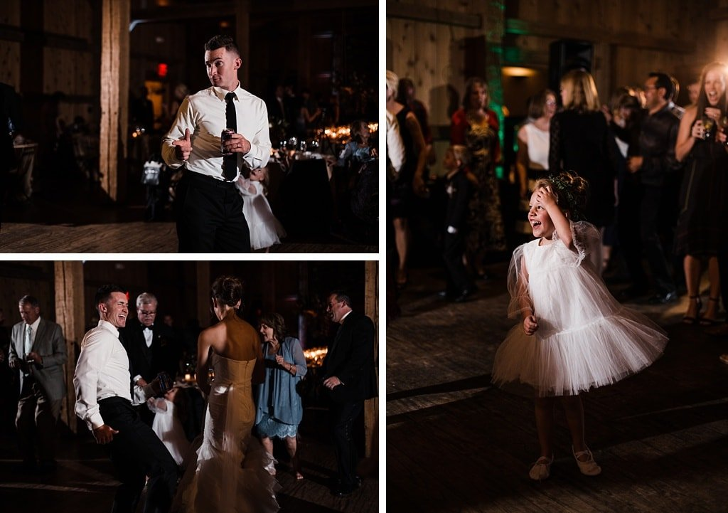 Devil's Thumb Ranch wedding reception dance floor photography