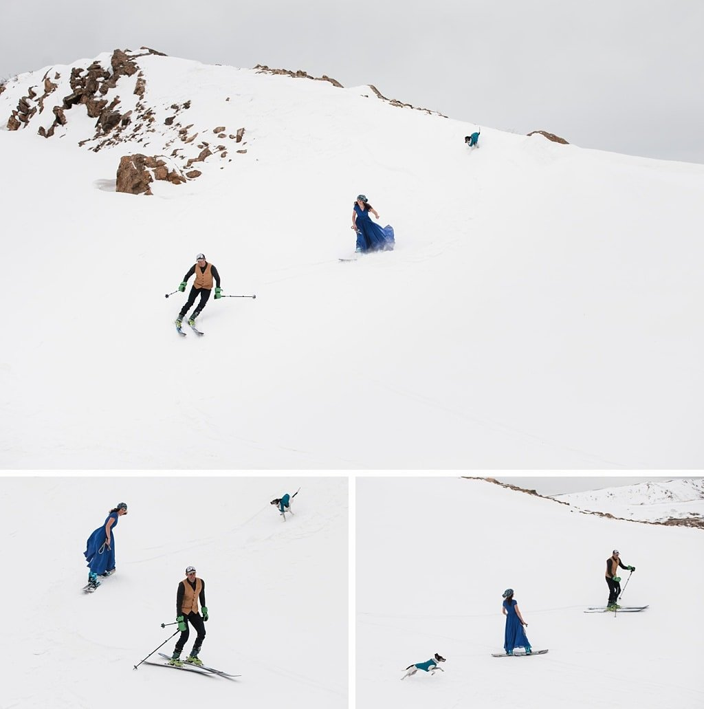 Backcountry Skiing Engagement Colorado Adventure Wedding Photographer Loveland Pass