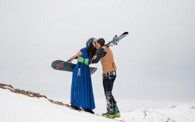 Samy + David's Backcountry Skiing Engagement