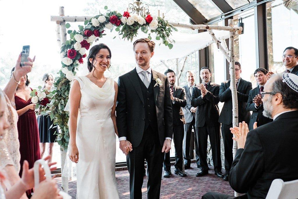 Jewish ceremony at Flagstaff House wedding in Boulder, Colorado