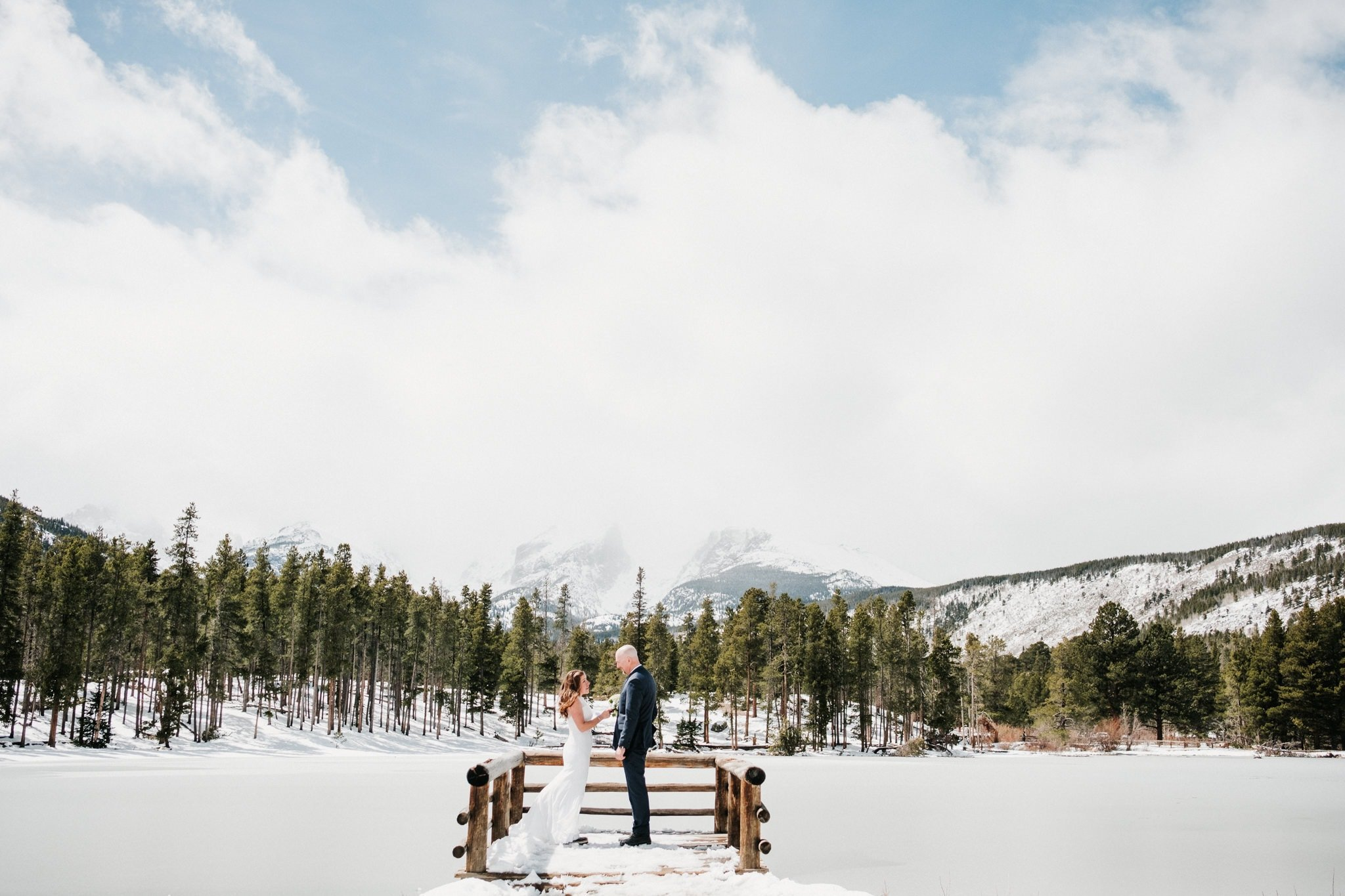 Sprague Lake hiking elopement, Rocky Mountain National Park wedding photographer