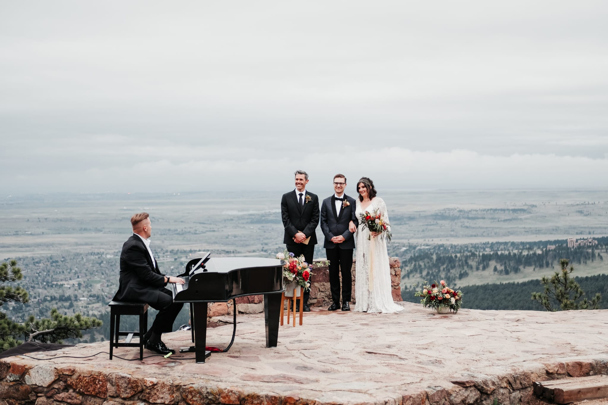 Sunrise Amphitheater Elopement, Flagstaff Boulder wedding photographer, Colorado wedding ceremony venue