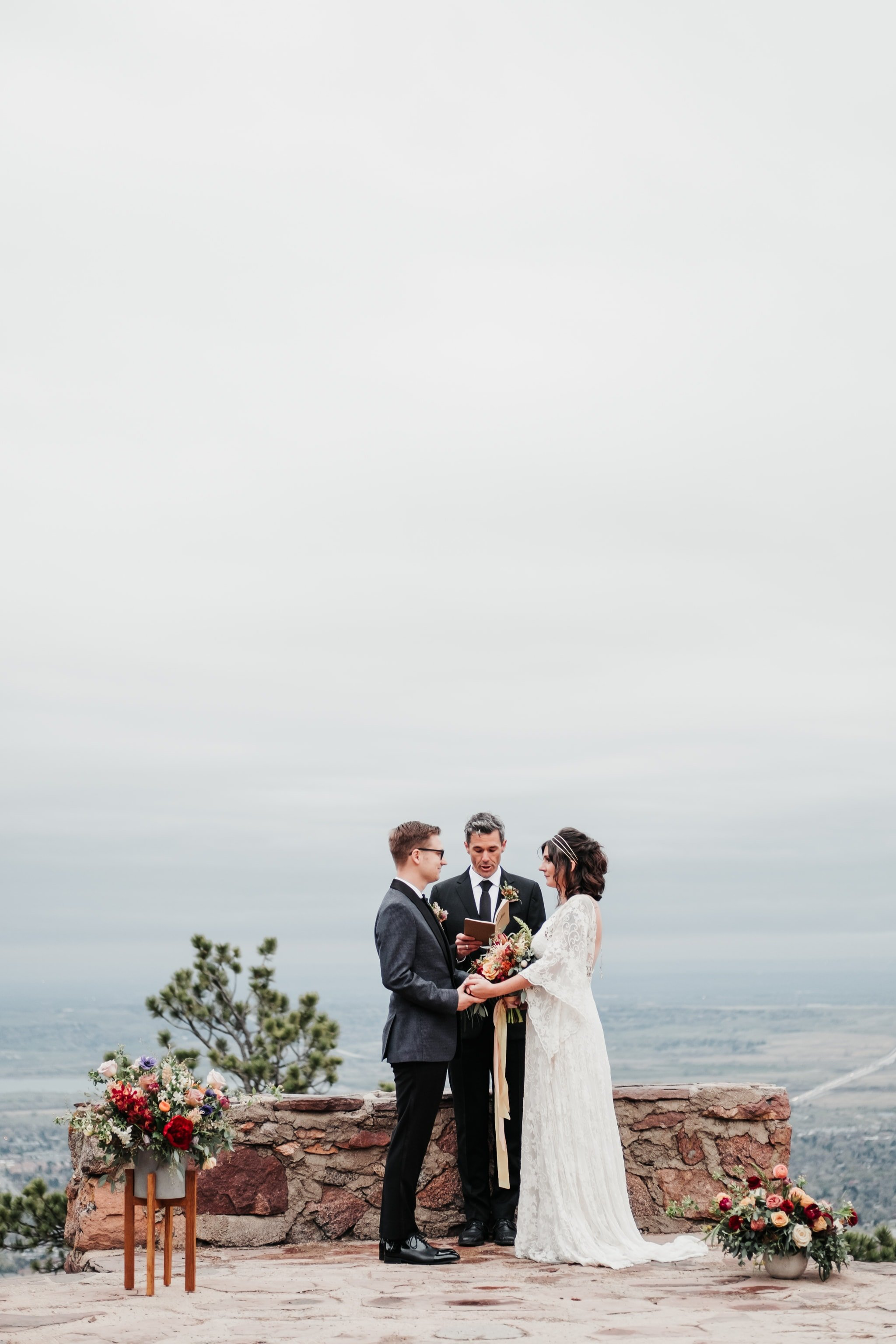 Sunrise Amphitheater Elopement, Boulder wedding photographer, Colorado wedding venue
