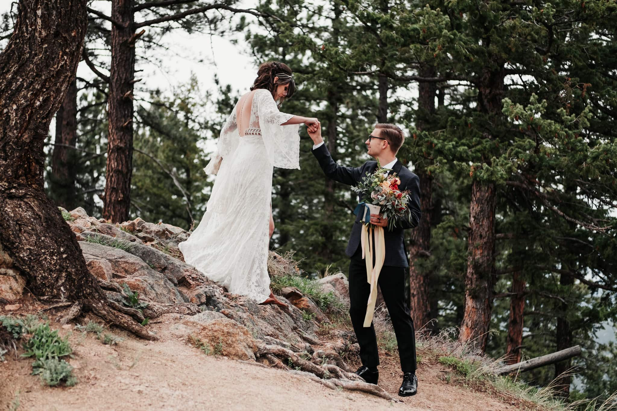 Colorado hiking elopement, mountain wedding, Boulder wedding photographer