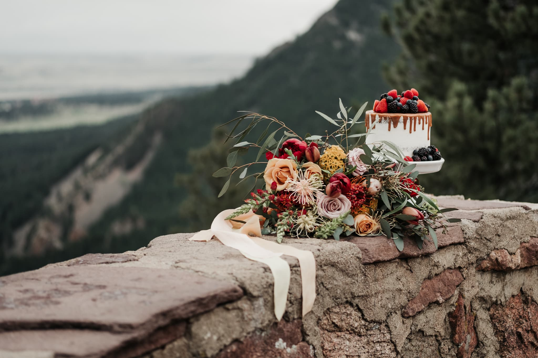 Sunrise Amphitheater Elopement Boulder Wedding Photographer