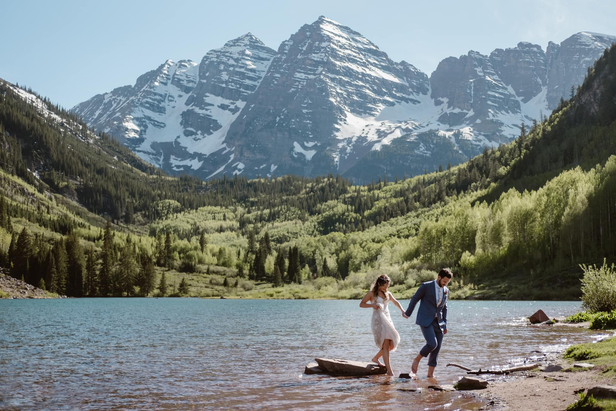Destination adventure wedding photography rocky mountain national park
