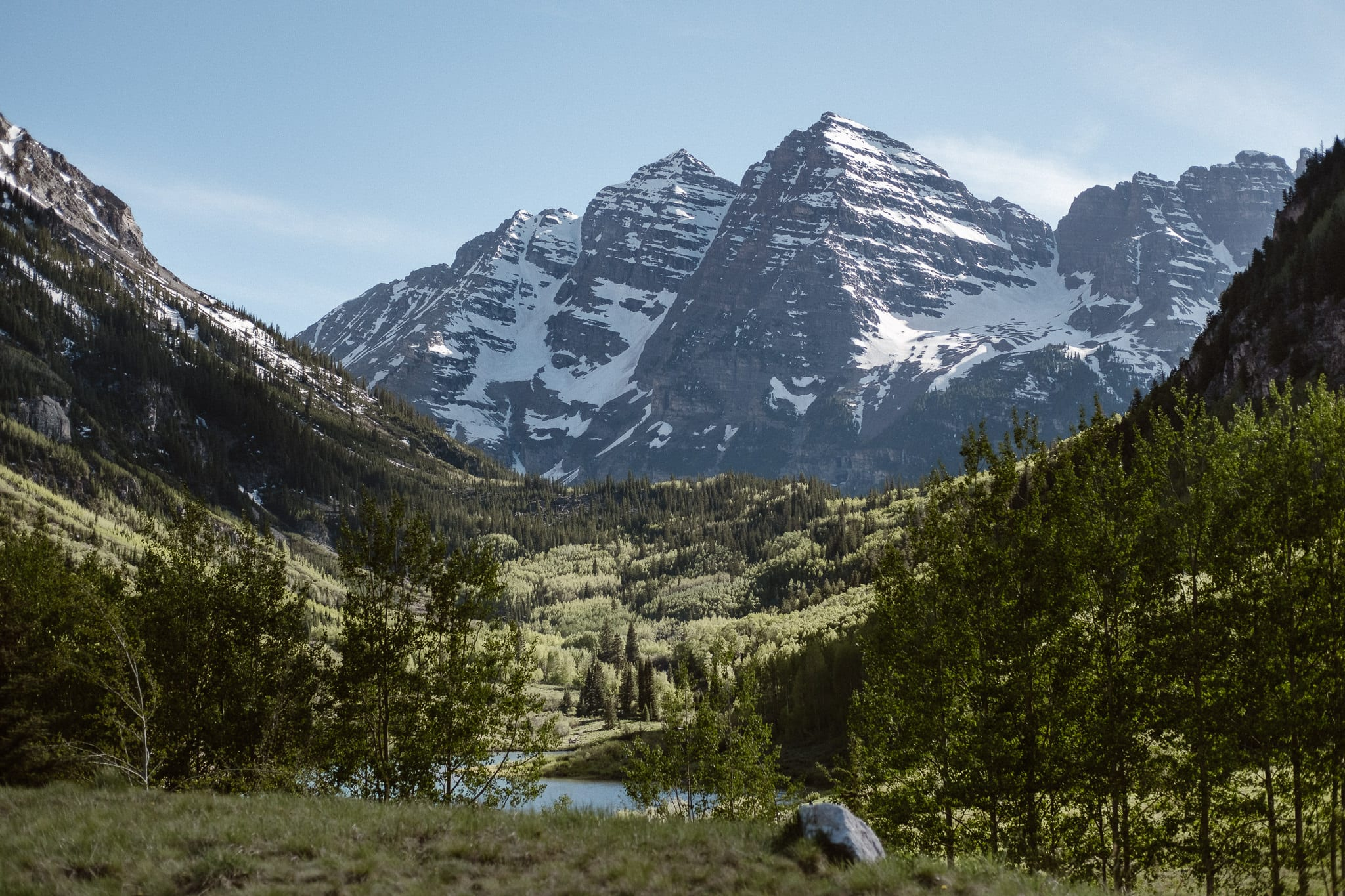 Maroon Bells Amphitheater elopement, Aspen wedding photographer