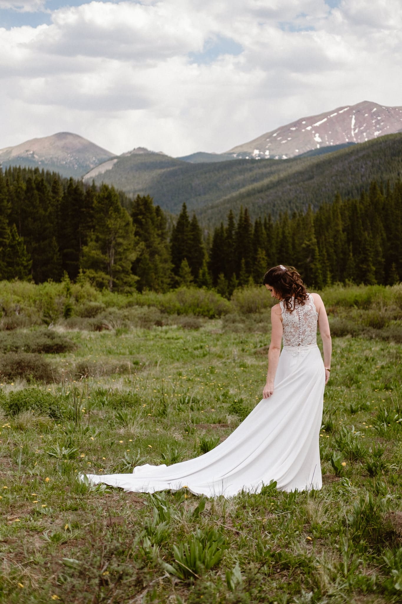 Bride and groom portraits at Boreas Pass, Breckenridge wedding photographer, Colorado elopement photographer