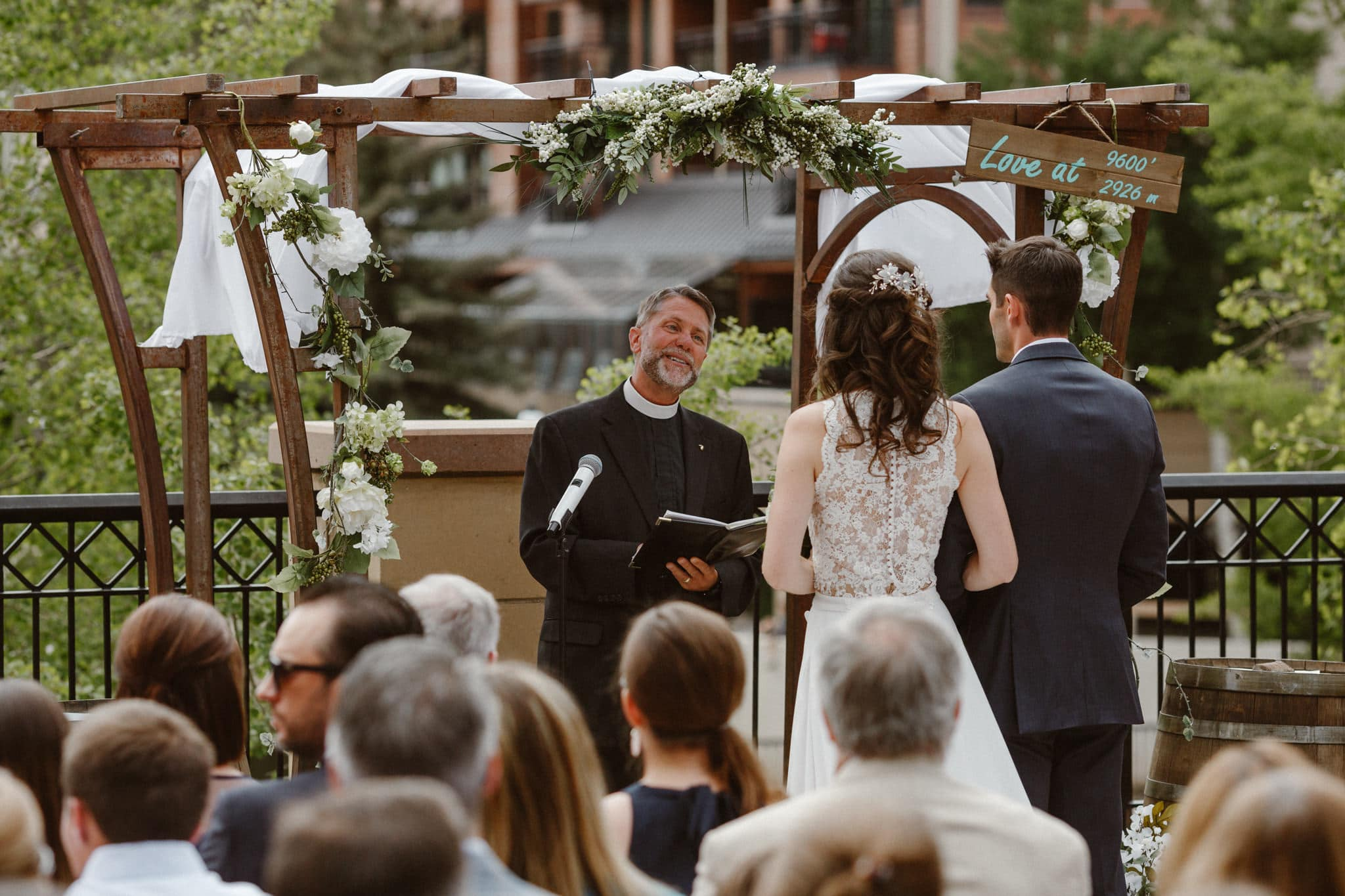 Main Street Station wedding ceremony, Breckenridge wedding photographer