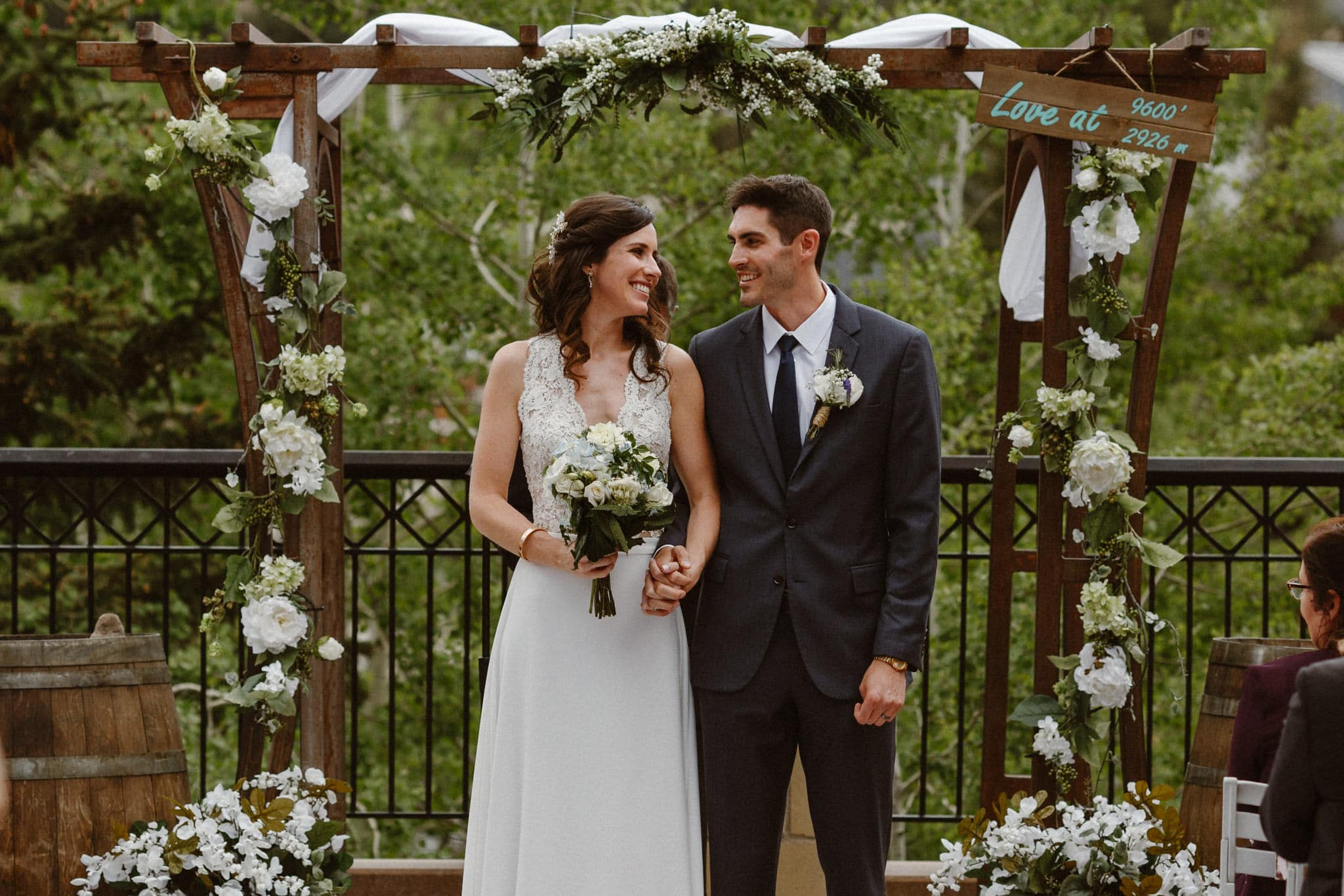 Main Street Station wedding ceremony, Breckenridge Colorado ski resort wedding photographer