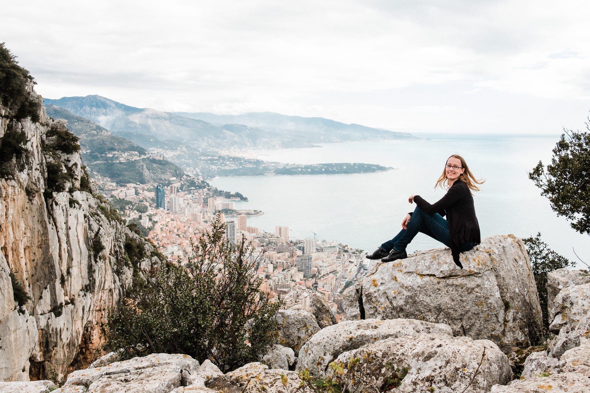 Monaco overlook French Riviera elopement location, destination adventure wedding photographer