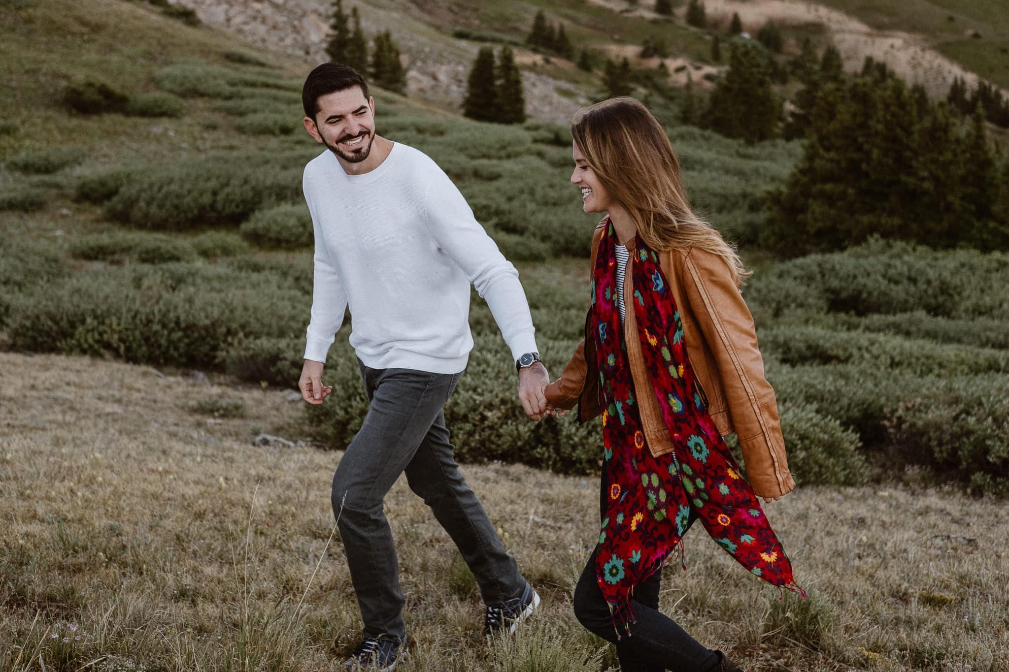 Colorado adventure engagement photography, Loveland Pass engagement session, Summit County wedding photographer
