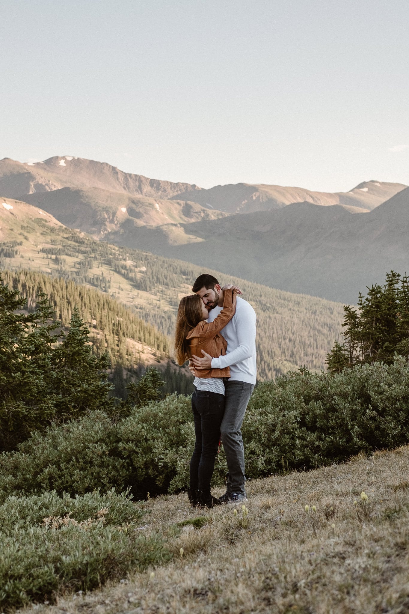 Colorado adventure engagement photography, Loveland Pass engagement session, Summit County wedding photographer