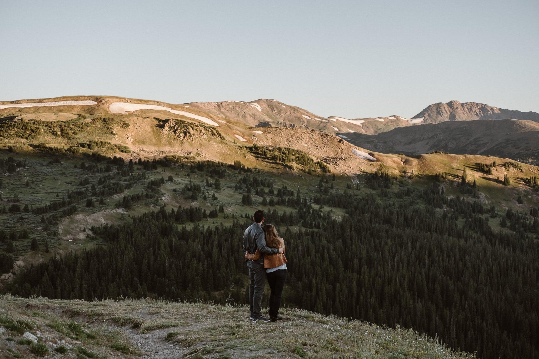 Colorado adventure engagement photography, Loveland Pass engagement, Summit County wedding photographer