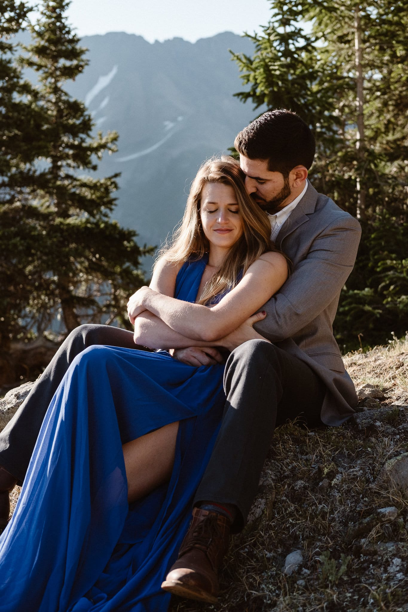 Colorado adventure engagement photography, Loveland Pass mountain alpine lake elopement, Summit County wedding photographer