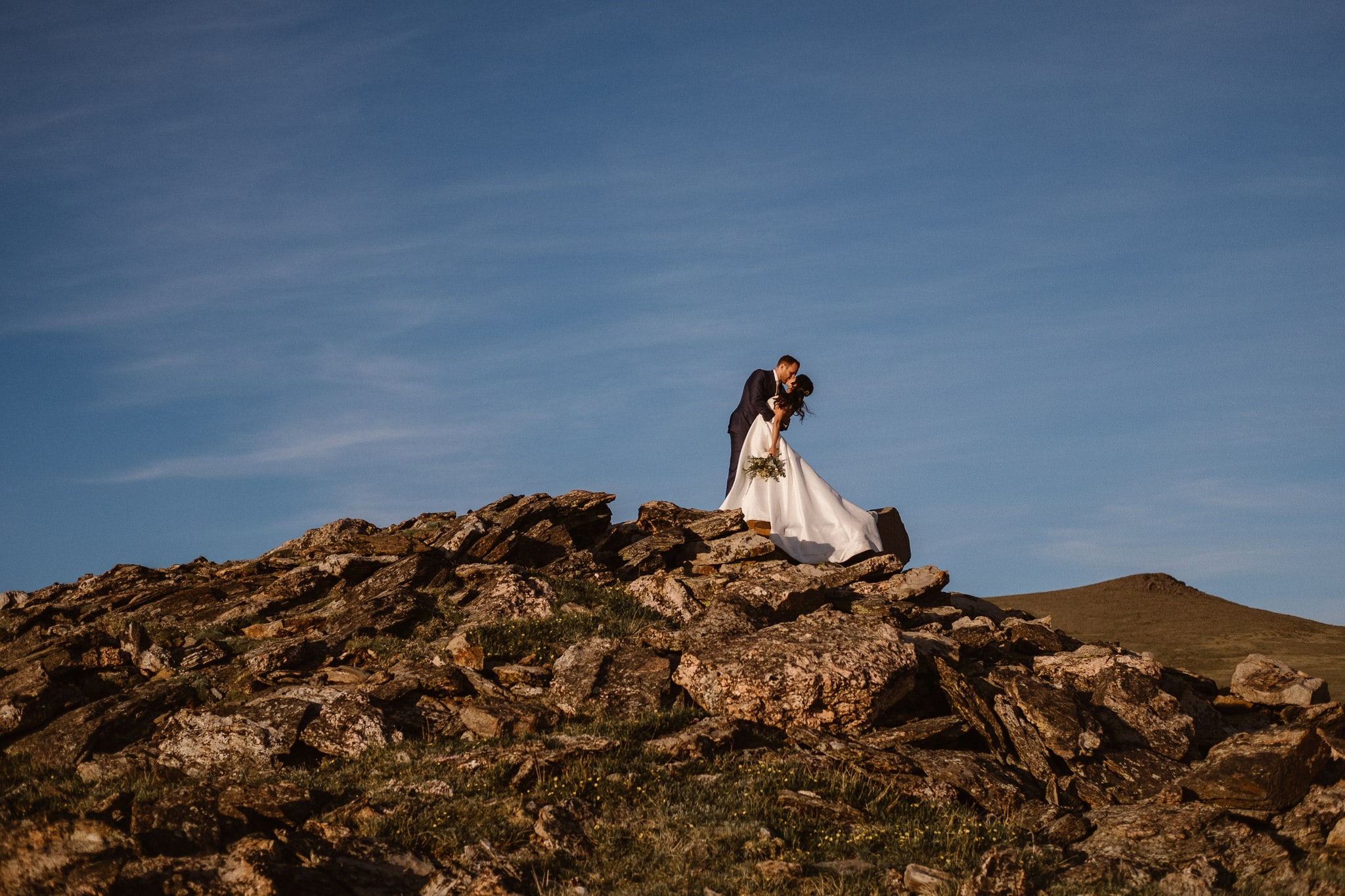 Trail Ridge Road Elopement Photographer, Colorado adventure wedding photography, mountain hiking elopement