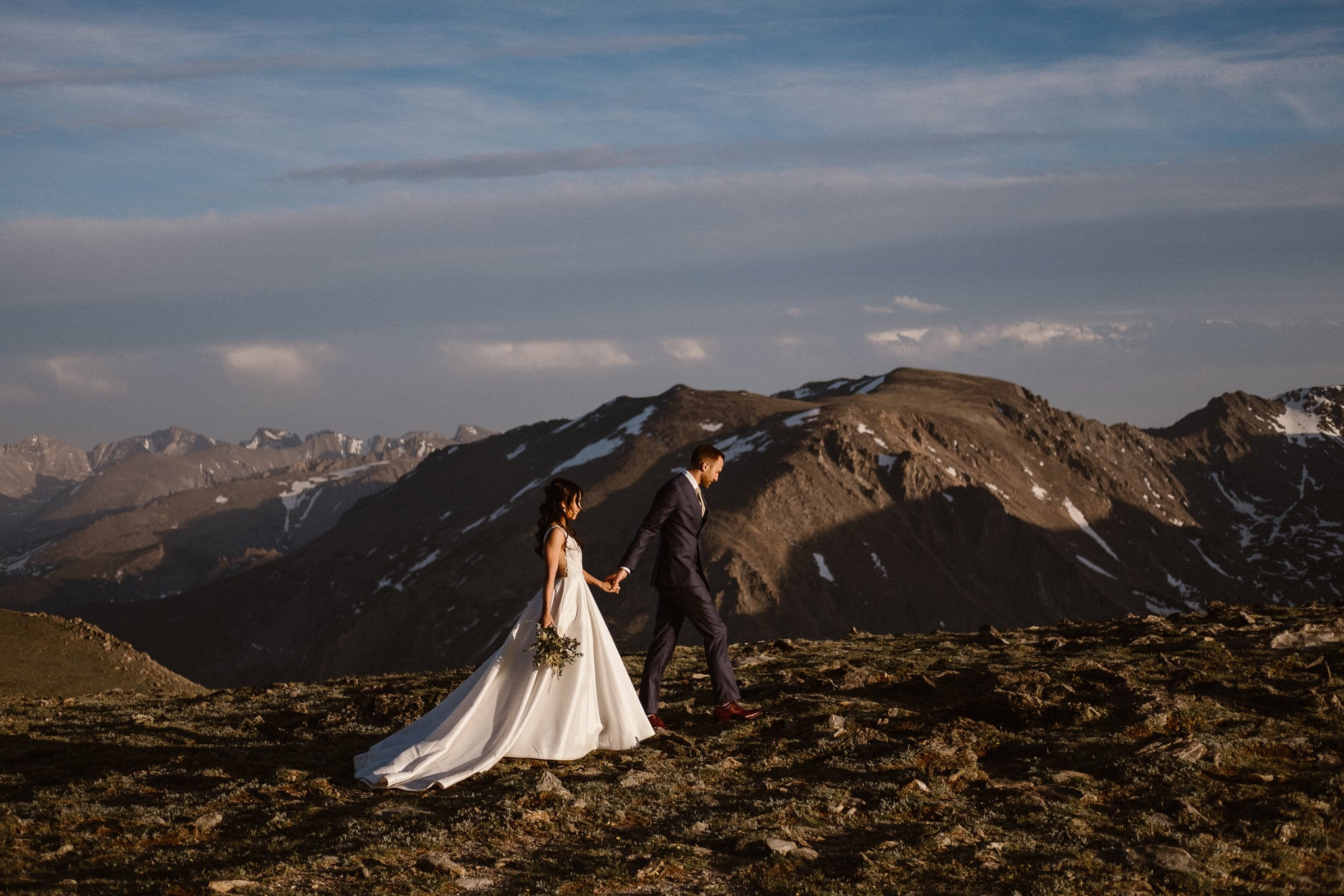 Trail Ridge Road Elopement Photographer, Colorado adventure wedding photography, hiking elopement