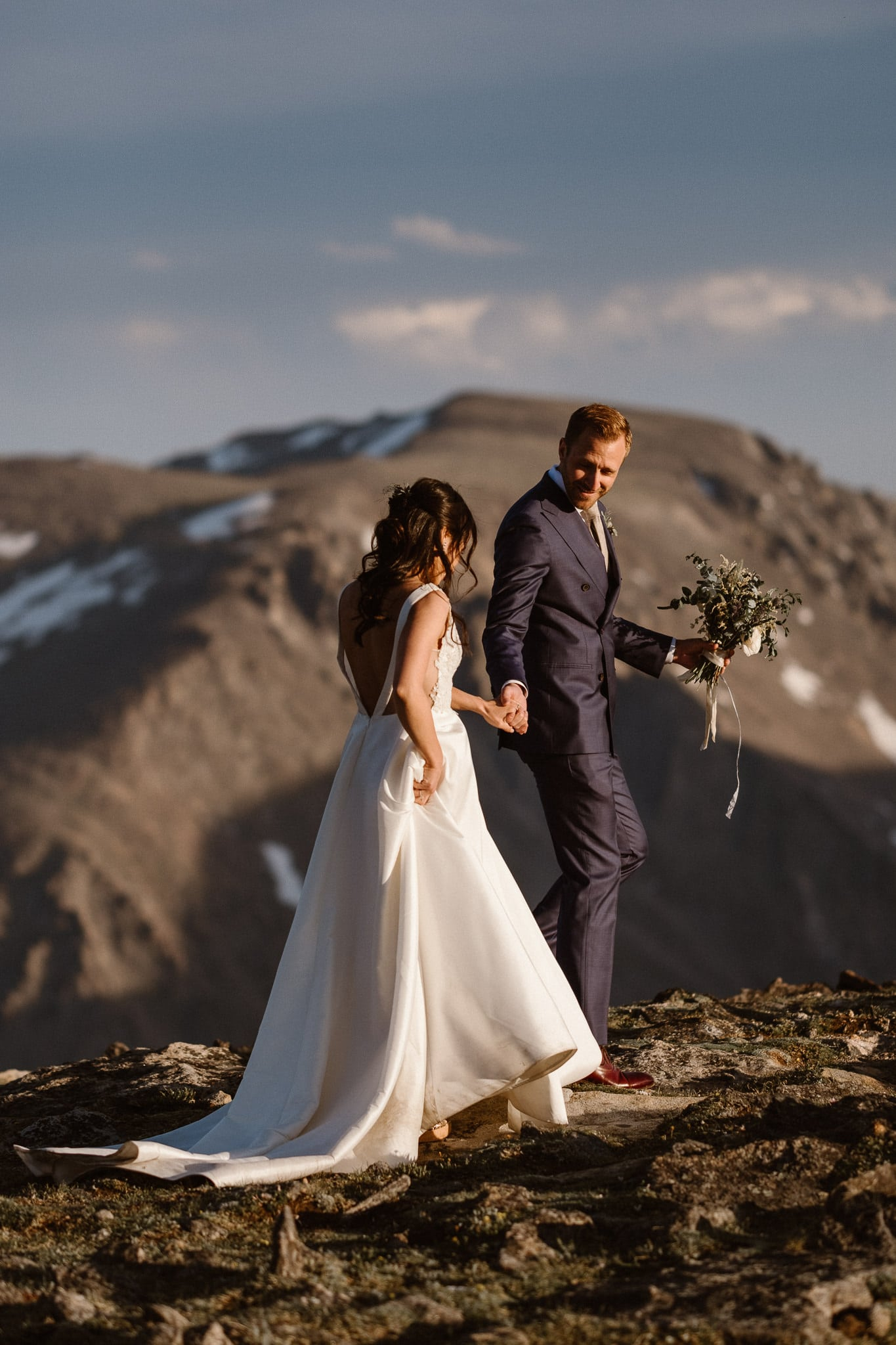 Trail Ridge Road Elopement Photographer, Colorado adventure wedding photography