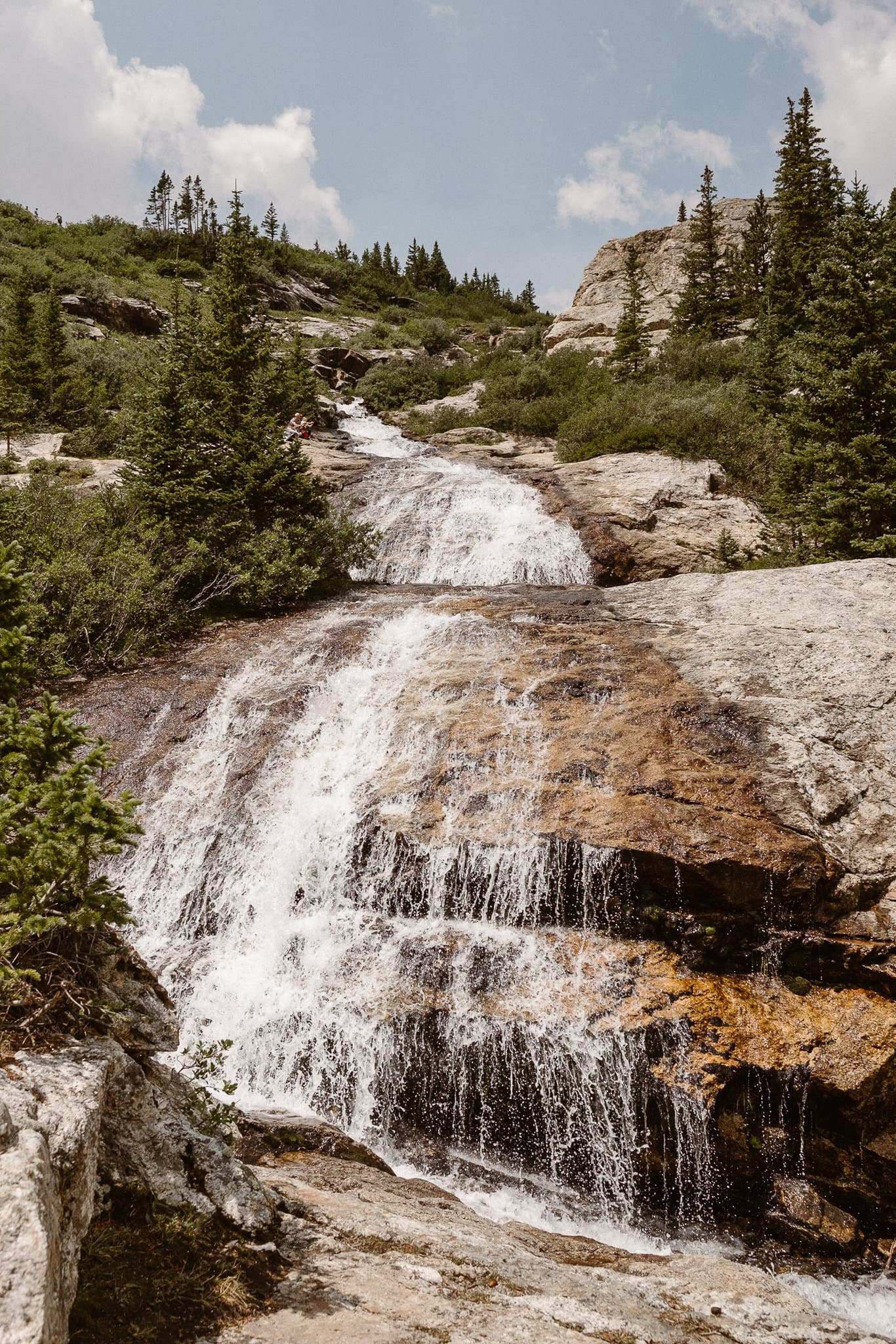 Breckenridge Elopement Locations, Colorado adventure wedding photographer, waterfall