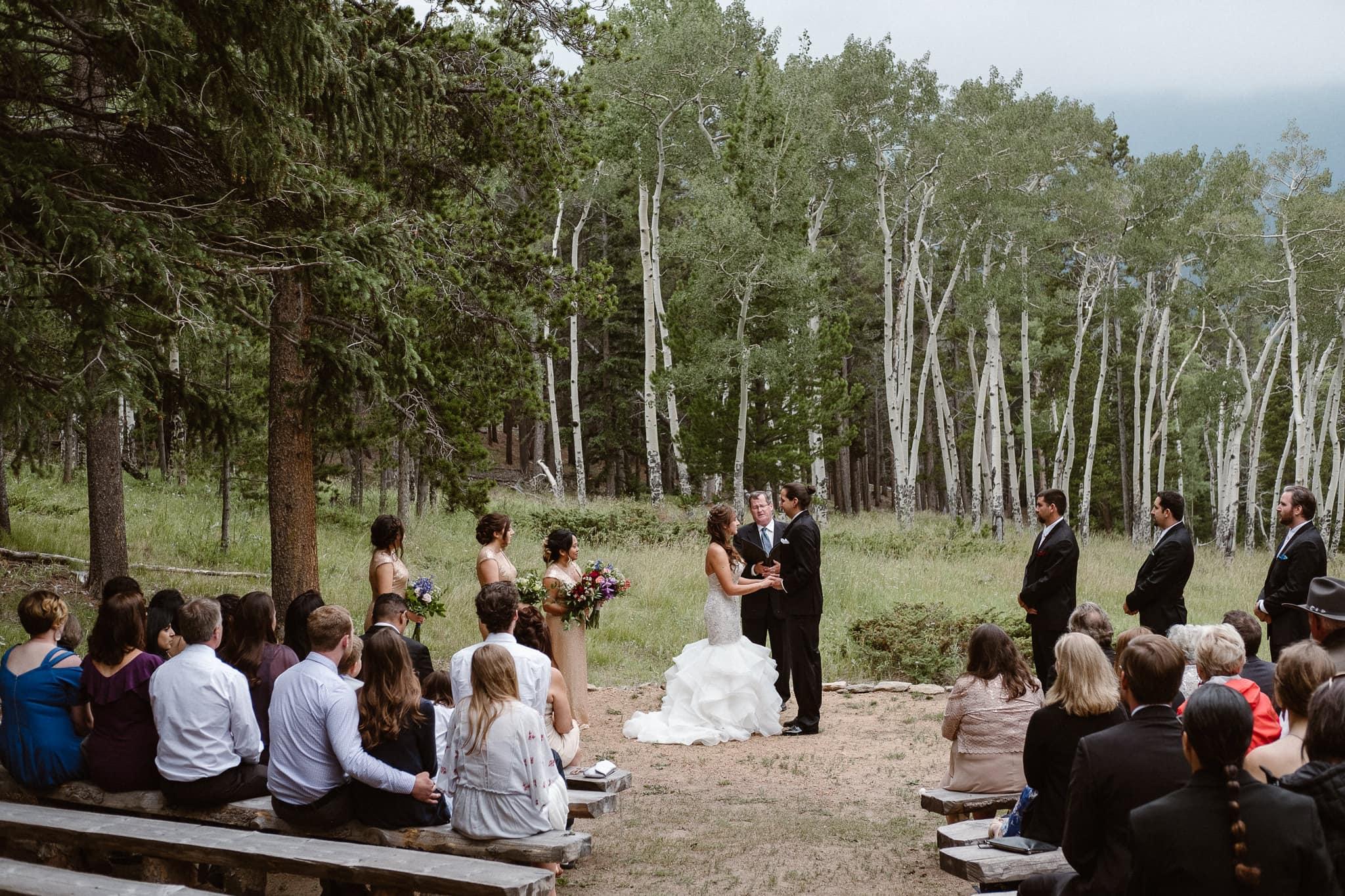 Dao House wedding photographer, Estes Park wedding venue, Colorado mountain wedding, outdoor ceremony, mountain ceremony,