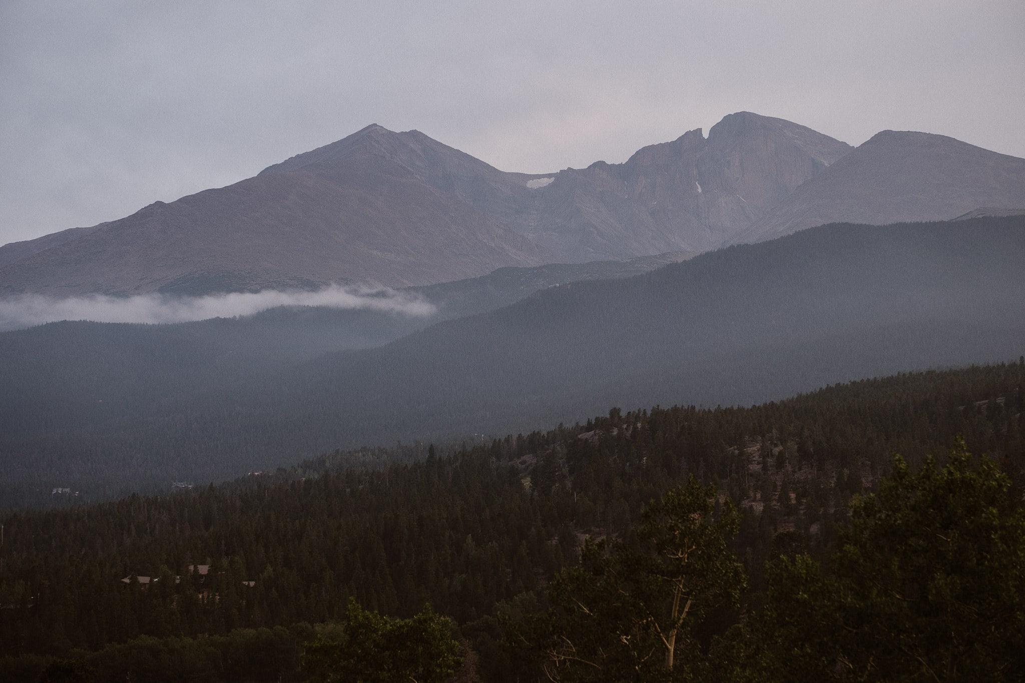 Dao House wedding photographer, Estes Park wedding venue, Colorado mountain wedding, Longs Peak, mountain views