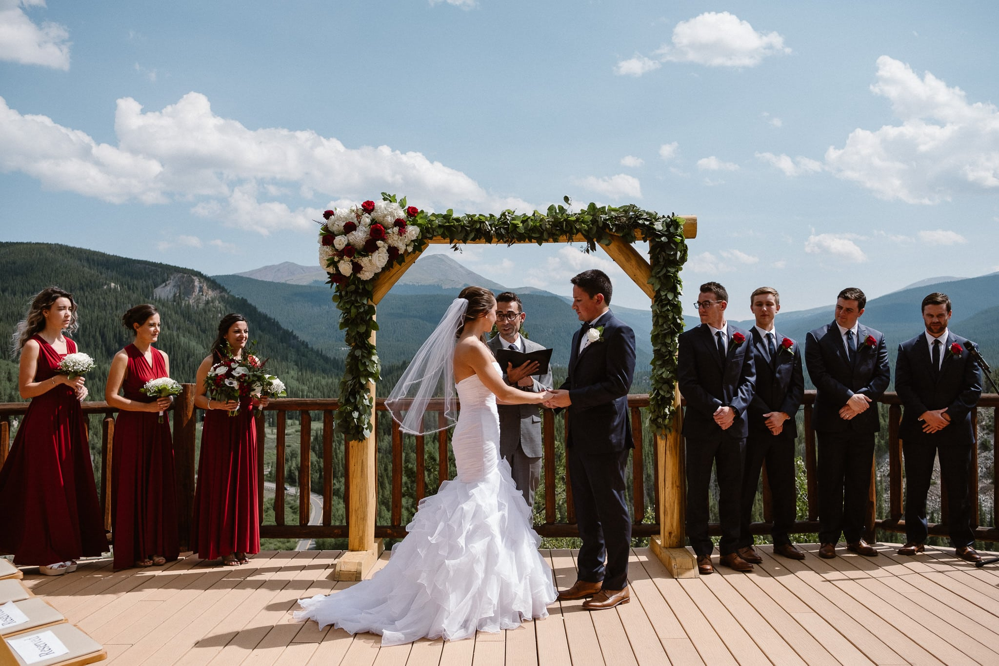 Wedding ceremony at The Lodge at Breckenridge.