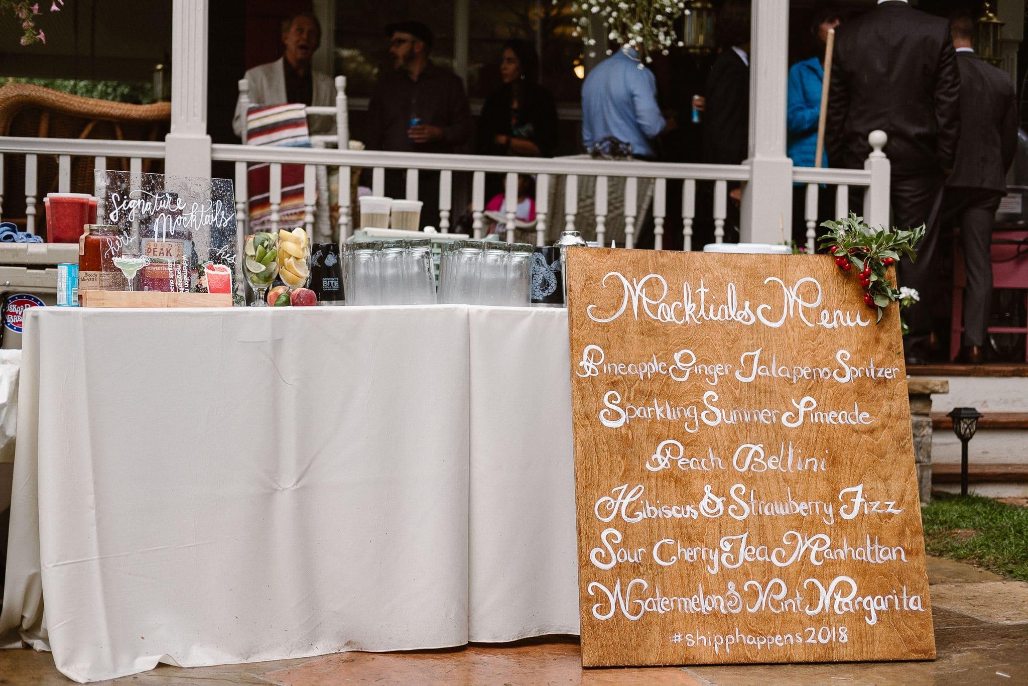 Aspen ranch wedding, Colorado mountain wedding photographer, private ranch wedding reception bar