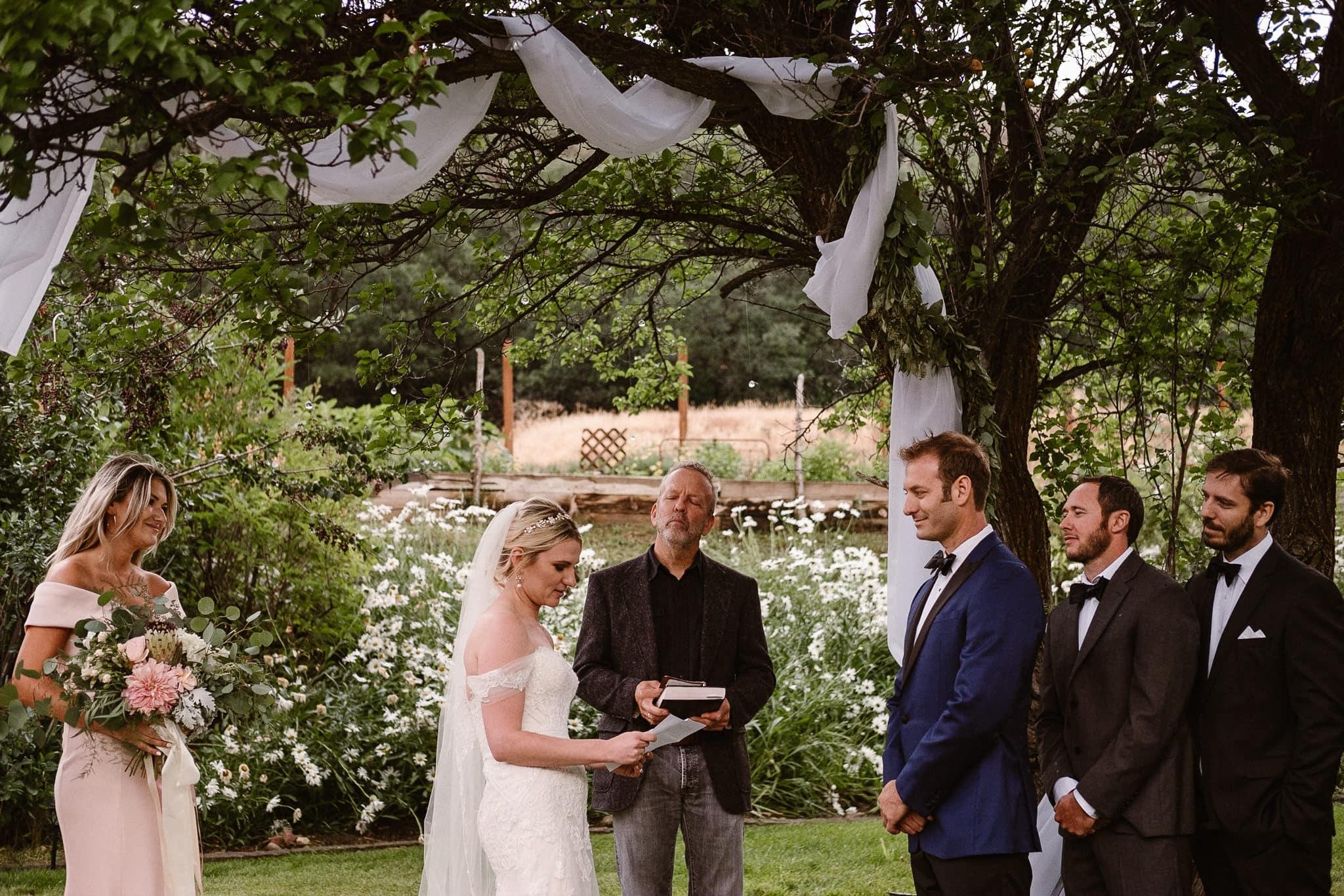 Aspen ranch wedding, Colorado mountain wedding photographer, private ranch wedding ceremony
