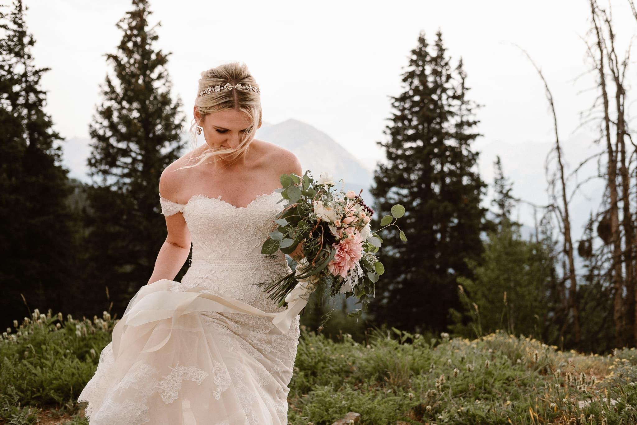 Aspen ranch wedding, Colorado mountain wedding photographer, Aspen luxury wedding, bride portrait