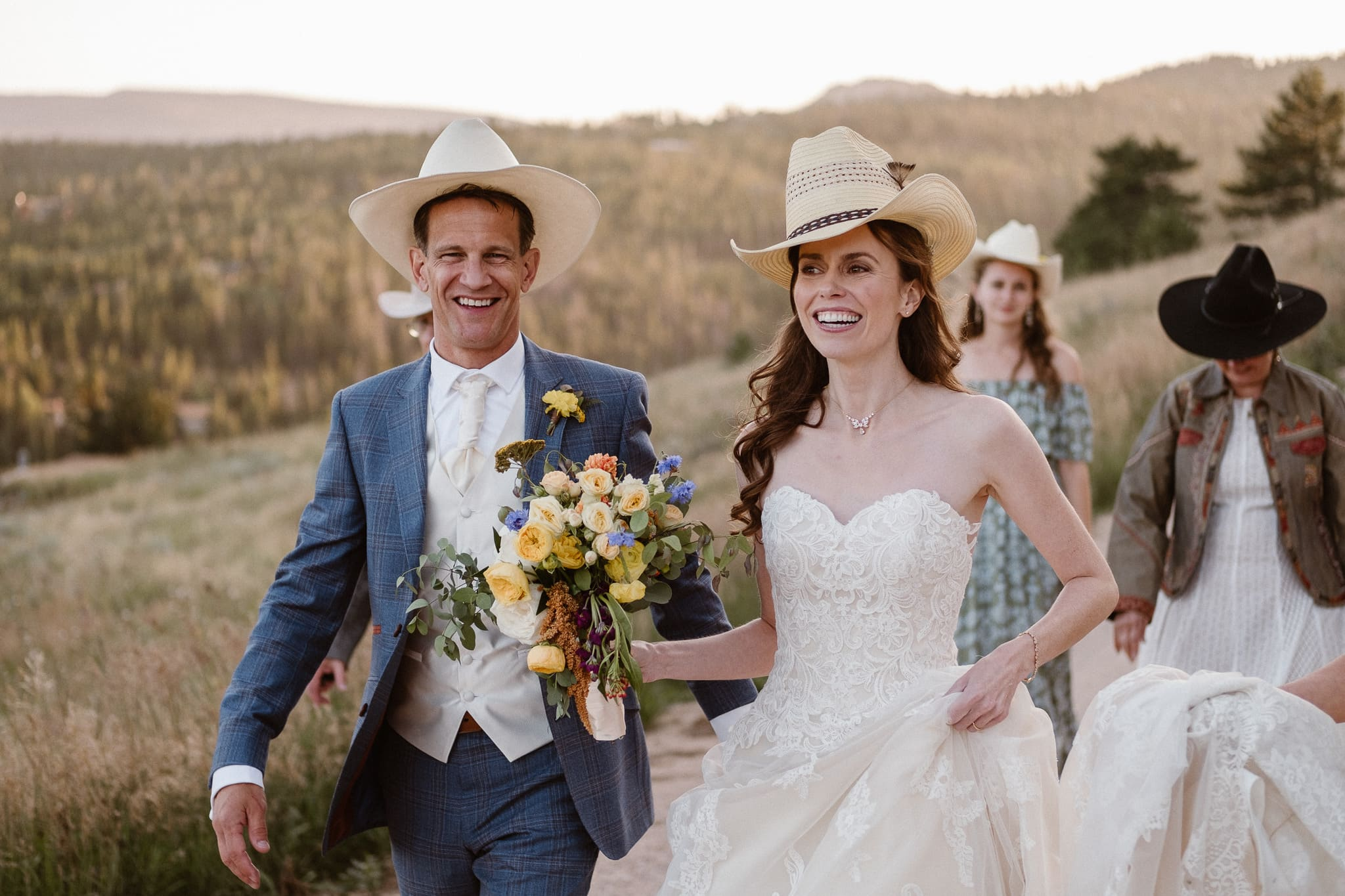 Red Feather Lakes elopement photographer, Colorado intimate cabin wedding, family portraits