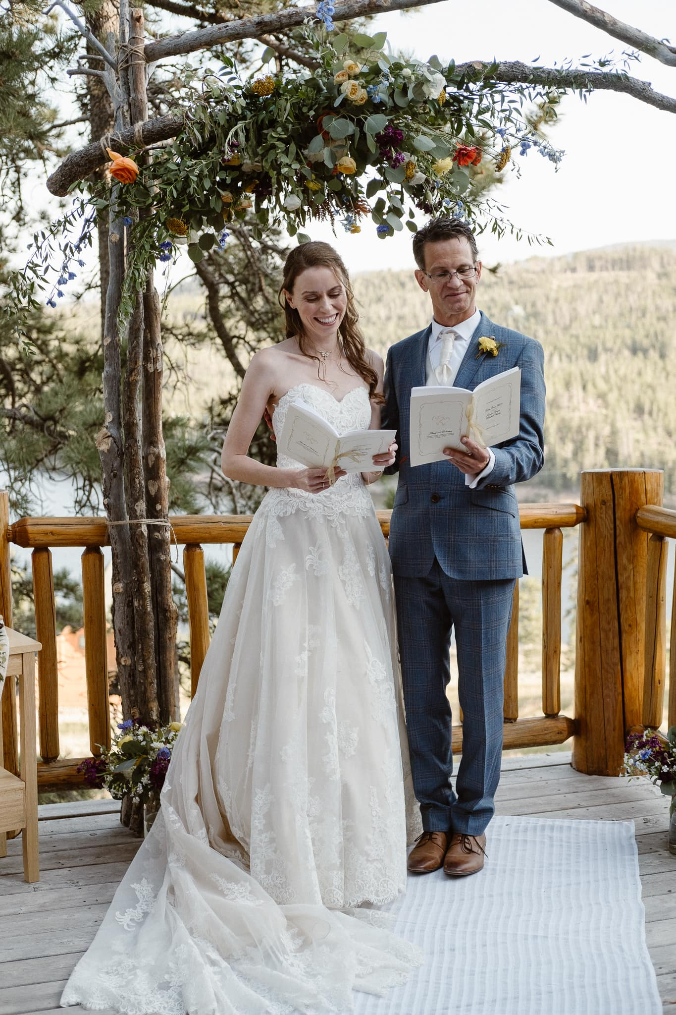 Red Feather Lakes elopement photographer, Colorado intimate cabin wedding, cabin wedding ceremony
