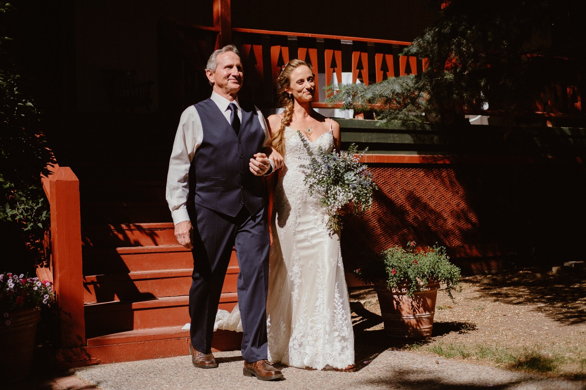 Redstone Inn wedding photographer, Carbondale wedding photographer, Colorado intimate wedding photographer, wedding ceremony processional